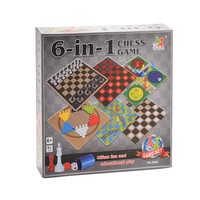 6-In-1 Board Game Toy Chess Game Toy Set for Kids Learning and Educational Toys