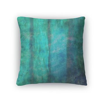 Throw Pillow, Abstract Watercolor Hand Painted