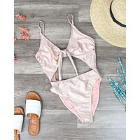 ABI - Tie Front Cheeky Coverage One Piece in More Colors