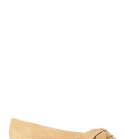 FOREVER 21 Peep-Toe Espadrille Flats Taupe