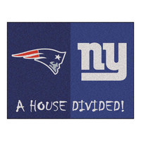New England Patriots-New York Giants NFL House Divided NFL All-Star Floor Mat (34x45)