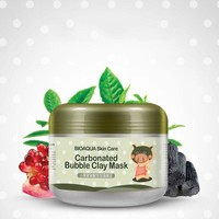 Oxygen Bubbles Carbonate Mud Mask Deep Clean and Clear Whitening Hydrating Bioaqua E4