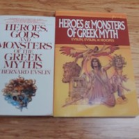 2 Book Bundle of Heroes, Gods, Monsters Greek Myths by Bernard Evslin 2001