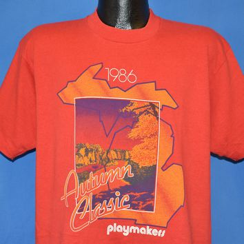 80s Autumn Classic 1986 Playmakers Reebok t-shirt Extra Large