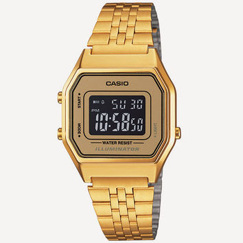 Casio Vintage Collection La680 Watch Gold One Size For Men 24816362101
