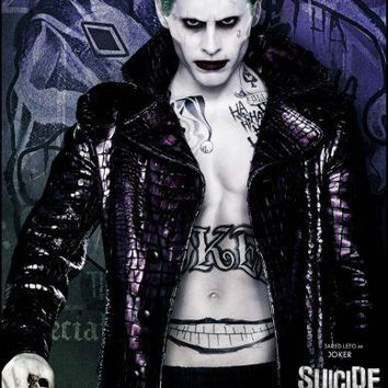 Joker Suicide Squad poster Metal Sign Wall Art 8in x 12in