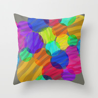 Abstract color II Throw Pillow by Silvianna
