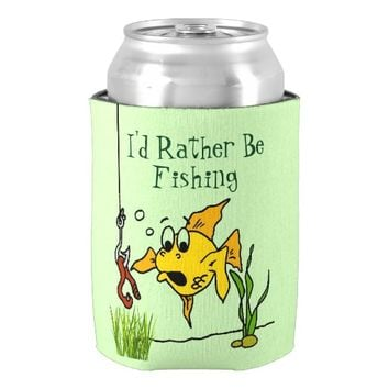 Custom Going Fishing Can Cooler