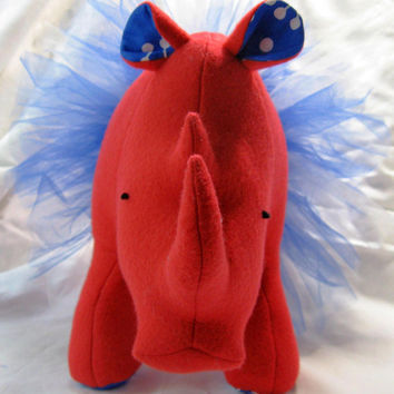 Carmen Dancing Rhinoceros, tutu, dancing, stuffed animal, plush, fleece