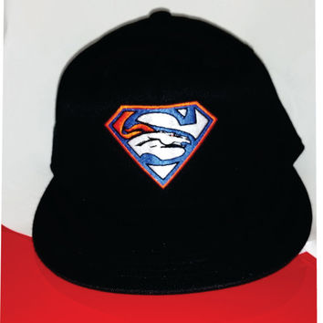 Super Broncos embroidered hat on snapback or Flexfit 6277 hat Denver Colorado USA awesome Christmas Gift