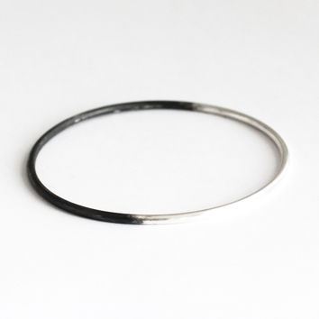 Oxidized Sterling Bangle
