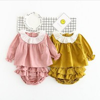 2 Piece Tutu Ruffle Bloomers + Top