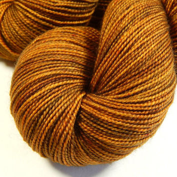 Hand Dyed Yarn - Sock Weight Superwash Merino Wool Yarn - Acorn - Knitting Yarn, Sock Yarn, Wool Yarn, Brown, Tonal Yarn