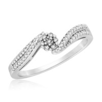 Sterling Silver 0.10 Cttw Promise Ring