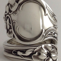 Size 9 Vintage Sterling Silver Wallace Spoon Ring
