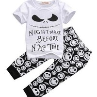 2016 New summer style Cotton Baby Boys Casual T-shirt+Cross Pants 2pcs baby clothing sets baby boy clothes