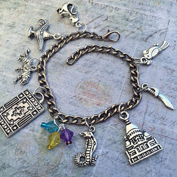 A Whole New World Arabian Princess Charm Bracelet - Fairytale Jewelry - Once Upon A Time Jewelry - Princess Jewelry - Fairytale Bracelet