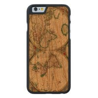 Vintage old world Maps Wood Phone Case For iPhone SE/5/5S