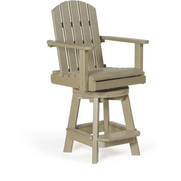 Leisure Lawns Amish Made Recycled Plastic Swivel Pub Chair Model #77 - Ships FREE within 2 to 3 Weeks
