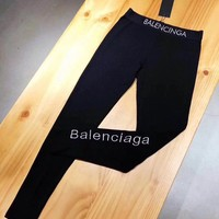 """Balenciaga"" Women Casual Fashion Letter Tight Pants Leggings Trousers"