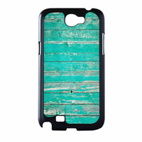 Teal Wood Samsung Galaxy Note 2 Case
