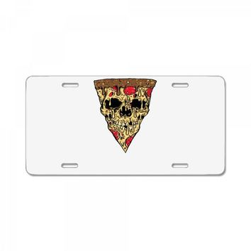 pizza skull License Plate