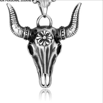 Cow's Head Pendant Necklace