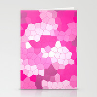 Purple and Pink Glass Stationery Cards by Kat Mun | Society6