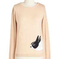ModCloth Mid-length Long Sleeve Hare-est of Them All Sweater