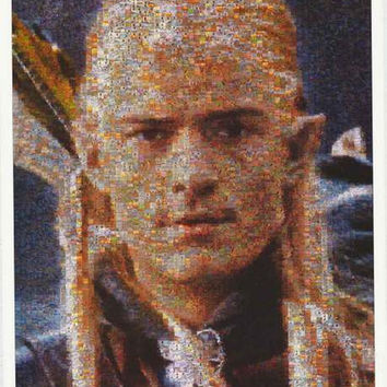 Lord of the Rings Legolas Photomosaic 2003 Poster 25x35