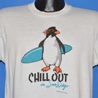 80s Chill Out In San Diego Surfing Puffin t-shirt Medium