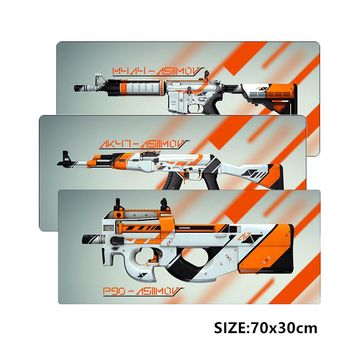 SIANCS 70x30cm  gaming mouse pad asiimov awp ak 47 m4a4 p90 cs Butterfly knife skin large xl mousepads for gamer