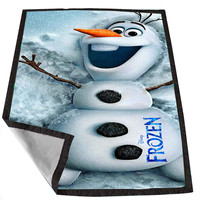 disney frozen olaf 3 bf08e685-976c-4fef-be51-04918a93b74a for Kids Blanket, Fleece Blanket Cute and Awesome Blanket for your bedding, Blanket fleece *02*