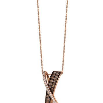 Jewelry & Accessories | Necklaces | Chocolate Diamond; Pendant in 14 Kt. Strawberry Gold;, 0.92 ct. t.w. | Lord and Taylor