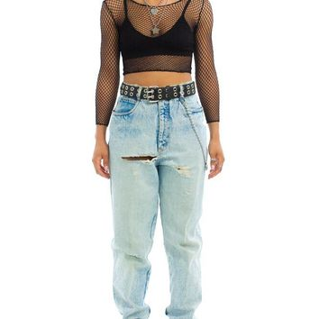Vintage 90's Destroyed Bill Blass Mom Jeans - L