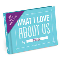 KNOCK KNOCK WHAT I LOVE ABOUT US FILL IN THE BLANK JOURNAL