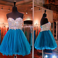 Sweetheart Homecoming Dress,Beading Homecoming Dress,Homecoming Dresses