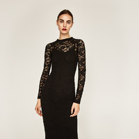 LONG SLEEVE LACE DRESS DETAILS