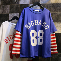 Youpop KPOP BIGBANG G-Dragon GD Album Stripe Hoodie K-POP Women Hoodies Clothes Pullover Printed Long Sleeve Sweatshirts WY349