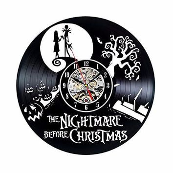 Vinyl Record Clock Nightmare Before Christmas