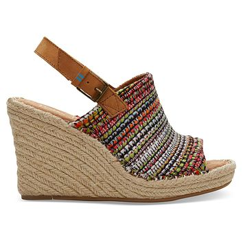 TOMS - Women's Monica Wedged Cherry Tomato Woven Sandals
