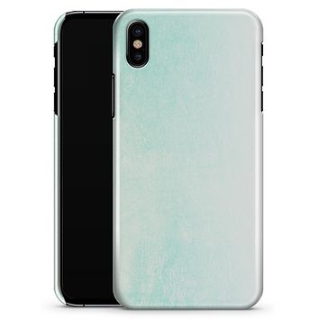 Teal Grunge Fade to White  - iPhone X Clipit Case