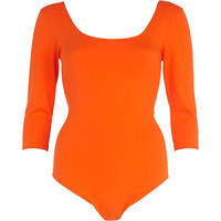 River Island Womens Orange scoop neck ballerina body
