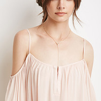 Open-Shoulder Trapeze Top