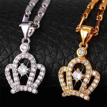 """"""" The Queen's Crown"""" Necklace Pendant 