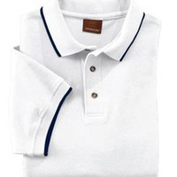 Men's Harriton Short Sleeve Pique Polo With Tipping
