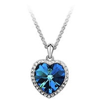 New Arrival Zircon Titanic Ocean Heart Silver Necklace Woman Sweater Chain Luxurious Fashion Statment Necklace for women