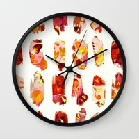 floral bits Wall Clock by Clemm