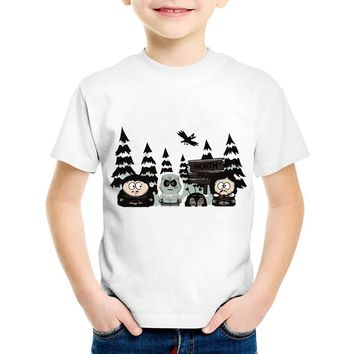 Children Cartoon Print Game of Thrones South Park Funny T-shirts Kids Summer Tees Boys/Girls Casual Tops Baby Clothes,HKP5074