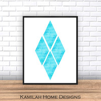 Printable Art, Geometric Wall Art, Mid Century Modern, Geometric Art, Wall Decor, Abstract Art Print, Scandinavian Art.